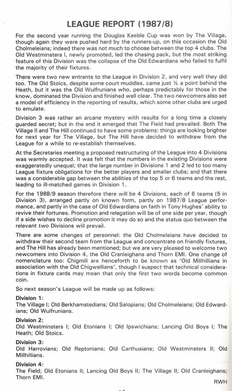 Efa league tables 1987 88 for League table 1984 85