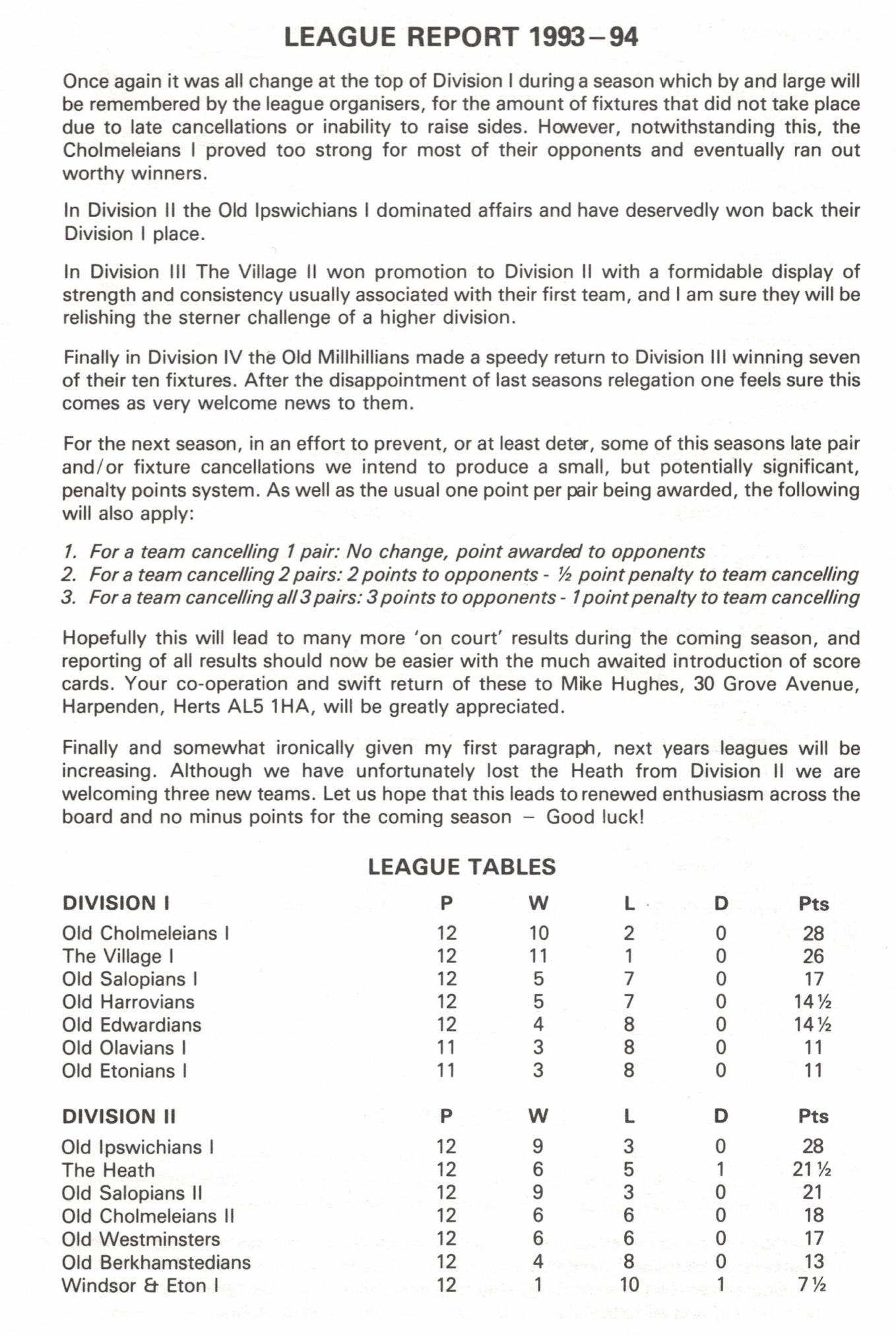Efa league tables 1993 94 for League table 1984 85